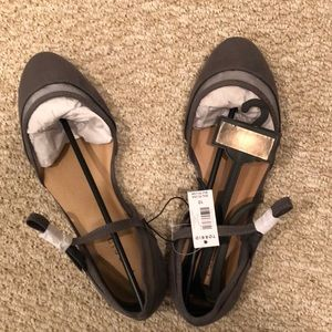 Torrid D'Orsay Mesh Flat with Ankle Straps